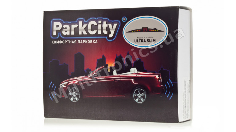 Парктроник ParkCity Ultra Slim New 418/110 black