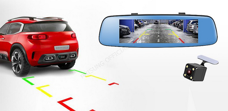 Зеркало видеорегистратор Phisung V8